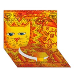 Patterned Lion Circle Bottom 3D Greeting Card (7x5)