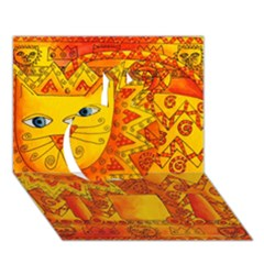 Patterned Lion Apple 3D Greeting Card (7x5)