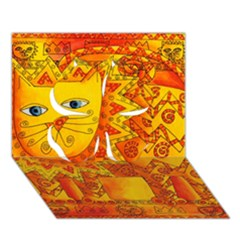 Patterned Lion Clover 3D Greeting Card (7x5)