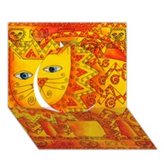 Patterned Lion Circle 3D Greeting Card (7x5)