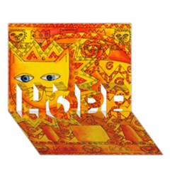 Patterned Lion Hope 3d Greeting Card (7x5)