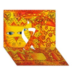 Patterned Lion Ribbon 3D Greeting Card (7x5)