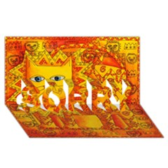 Patterned Lion Sorry 3d Greeting Card (8x4)