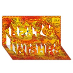 Patterned Lion Best Wish 3D Greeting Card (8x4)