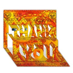 Patterned Lion Thank You 3d Greeting Card (7x5)