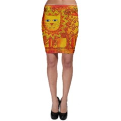 Patterned Lion Bodycon Skirts