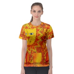 Patterned Lion Women s Sport Mesh Tees