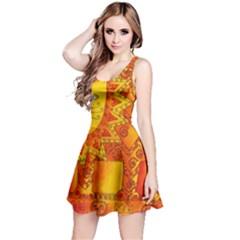 Patterned Lion Reversible Sleeveless Dresses