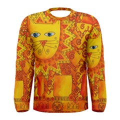 Patterned Lion Men s Long Sleeve T-shirts