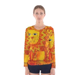 Patterned Lion Women s Long Sleeve T-shirts