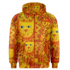Patterned Lion Men s Zipper Hoodies