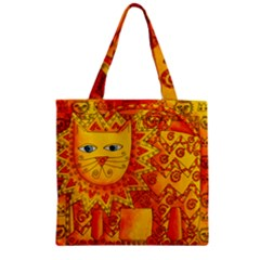 Patterned Lion Zipper Grocery Tote Bags