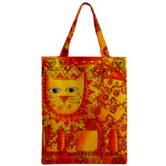 Patterned Lion Zipper Classic Tote Bags