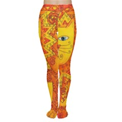Patterned Lion Women s Tights