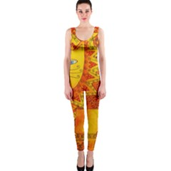 Patterned Lion OnePiece Catsuits
