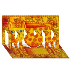 Patterned Leopard MOM 3D Greeting Card (8x4)