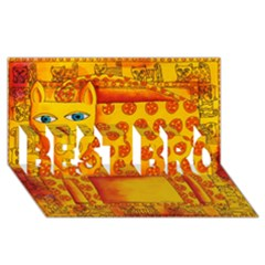 Patterned Leopard BEST BRO 3D Greeting Card (8x4)