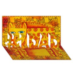 Patterned Leopard #1 DAD 3D Greeting Card (8x4)