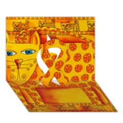 Patterned Leopard Ribbon 3D Greeting Card (7x5)