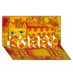 Patterned Leopard SORRY 3D Greeting Card (8x4)