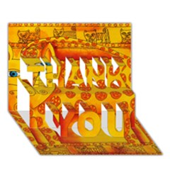 Patterned Leopard THANK YOU 3D Greeting Card (7x5)