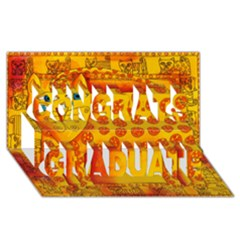 Patterned Leopard Congrats Graduate 3d Greeting Card (8x4)