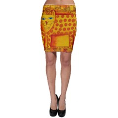 Patterned Leopard Bodycon Skirts