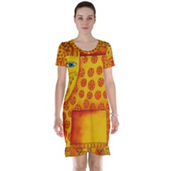 Patterned Leopard Short Sleeve Nightdresses