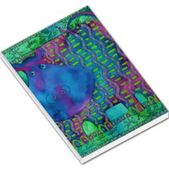 Patterned Hippo Large Memo Pads