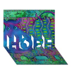 Patterned Hippo Hope 3d Greeting Card (7x5)