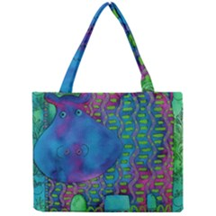 Patterned Hippo Tiny Tote Bags