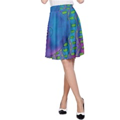 Patterned Hippo A-Line Skirts