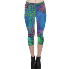 Patterned Hippo Capri Leggings