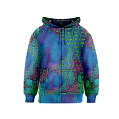 Patterned Hippo Kids Zipper Hoodies