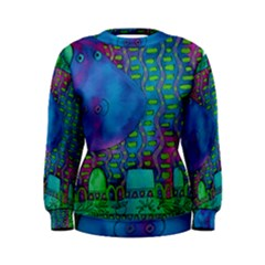 Patterned Hippo Women s Sweatshirts