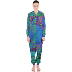 Patterned Hippo Hooded Jumpsuit (Ladies)