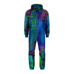 Patterned Hippo Hooded Jumpsuit (Kids)