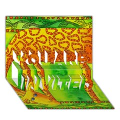 Patterned Giraffe  YOU ARE INVITED 3D Greeting Card (7x5)