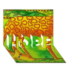Patterned Giraffe  HOPE 3D Greeting Card (7x5)