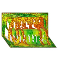 Patterned Giraffe  Best Wish 3d Greeting Card (8x4)