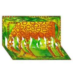Patterned Giraffe  Engaged 3d Greeting Card (8x4)