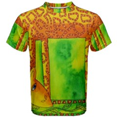 Patterned Giraffe  Men s Cotton Tees