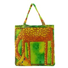 Patterned Giraffe  Grocery Tote Bags