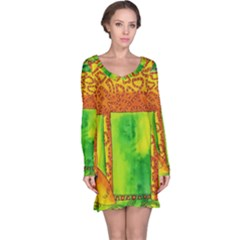 Patterned Giraffe  Long Sleeve Nightdresses