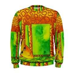 Patterned Giraffe  Men s Sweatshirts