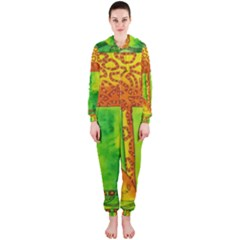 Patterned Giraffe  Hooded Jumpsuit (Ladies)