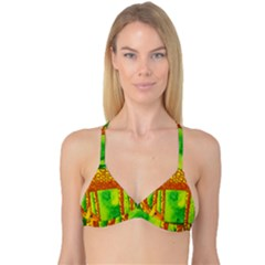 Patterned Giraffe  Reversible Tri Bikini Tops