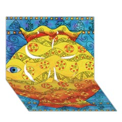 Patterned Fish Clover 3d Greeting Card (7x5)
