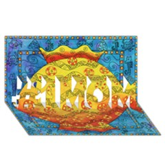 Patterned Fish #1 Mom 3d Greeting Cards (8x4)