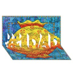 Patterned Fish #1 DAD 3D Greeting Card (8x4)